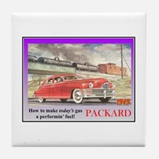 """1949 Packard Ad"" Tile Coaster"