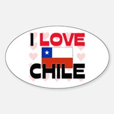 I Love Chile Oval Decal
