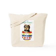Easter Yorkie Tote Bag