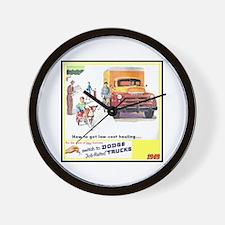 """""""1949 Dodge Trucks"""" Wall Clock"""