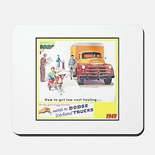 """""""1949 Dodge Trucks"""" Mousepad"""