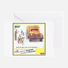 """1949 Dodge Trucks"" Greeting Card"