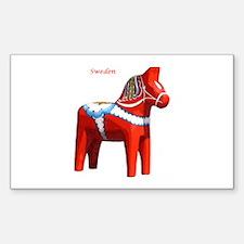 Dala Horse Rectangle Decal