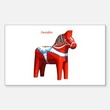 Dala Horse Rectangle Stickers