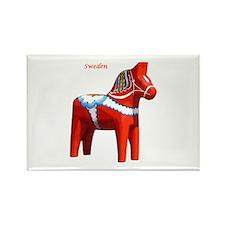 Dala Horse Rectangle Magnet