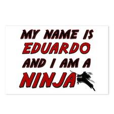 my name is eduardo and i am a ninja Postcards (Pac