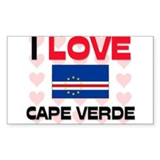 I Love Cape Verde Rectangle Decal