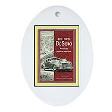 """""""1947 DeSoto Ad"""" Oval Ornament"""