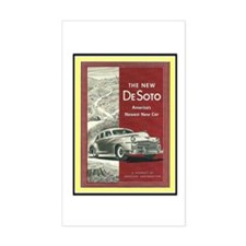 """1947 DeSoto Ad"" Rectangle Decal"