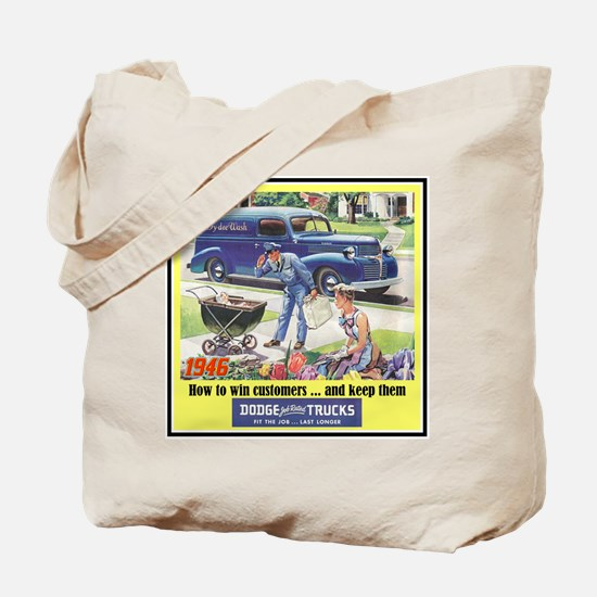 """1946 Dodge Truck Ad"" Tote Bag"