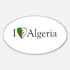I Love Algeria Oval Decal