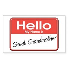 Hello My Name is Great Grandmother Decal