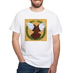 Flight Pigeon Wreath White T-Shirt