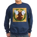 Flight Pigeon Wreath Sweatshirt (dark)
