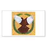 Flight Pigeon Wreath Rectangle Sticker