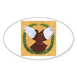 Flight Pigeon Wreath Oval Sticker (50 pk)
