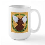 Flight Pigeon Wreath Large Mug