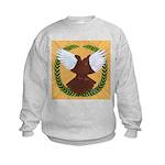 Flight Pigeon Wreath Kids Sweatshirt