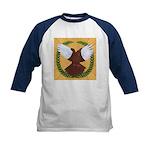 Flight Pigeon Wreath Kids Baseball Jersey
