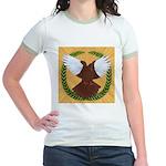 Flight Pigeon Wreath Jr. Ringer T-Shirt