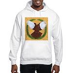 Flight Pigeon Wreath Hooded Sweatshirt