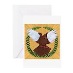 Flight Pigeon Wreath Greeting Cards (Pk of 20)