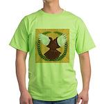 Flight Pigeon Wreath Green T-Shirt