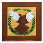 Flight Pigeon Wreath Framed Tile