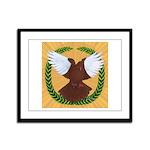 Flight Pigeon Wreath Framed Panel Print