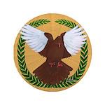"""Flight Pigeon Wreath 3.5"""" Button"""