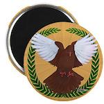 "Flight Pigeon Wreath 2.25"" Magnet (100 pack)"