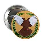 "Flight Pigeon Wreath 2.25"" Button (10 pack)"