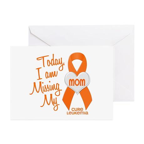Missing My Mom 1 LEUKEMIA Greeting Cards (Pk of 20