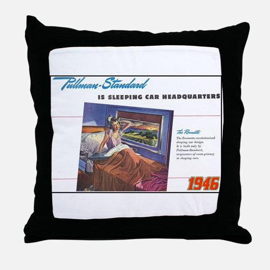 """1946 Pullman Ad"" Throw Pillow"