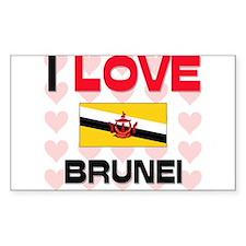 I Love Brunei Rectangle Decal