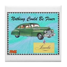 """1946 Lincoln Ad"" Tile Coaster"