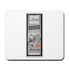 """""""1946 Motorola Car Heater Ad"""" Mousepad"""
