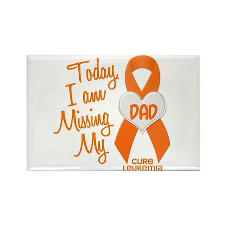 Missing My Dad 1 LEUKEMIA Rectangle Magnet