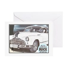 """1946 Buick Ad"" Greeting Card"