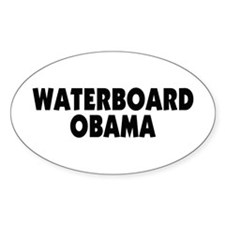 Waterboard Obama Oval Bumper Stickers