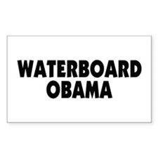 Waterboard Obama Rectangle Sticker 10 pk)