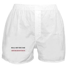 Real Men Become Orthodontists Boxer Shorts
