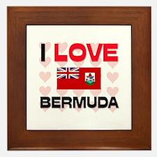 I Love Bermuda Framed Tile
