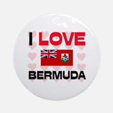 I Love Bermuda Ornament (Round)