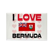 I Love Bermuda Rectangle Magnet