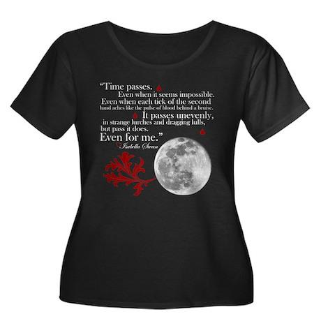 New Moon Women's Plus Size Scoop Neck Dark T-Shirt