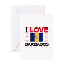 I Love Barbados Greeting Card