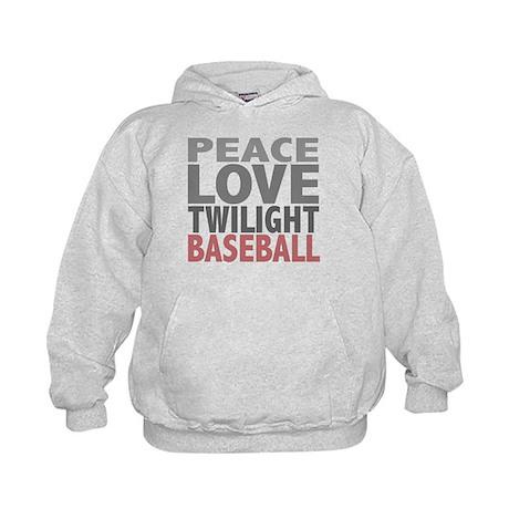 Peace Love Twilight Baseball Kids Hoodie