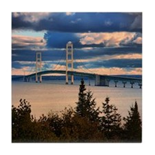 Mackinac Bridge #1060 Tile Coaster