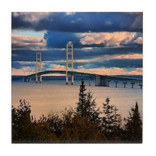 Mackinac Bridge #1060 Tile Coaster